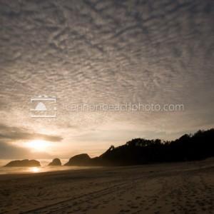 Altostratus Clouds Above Murre Rocks