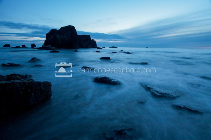 Blue Evening Below Ecola Point