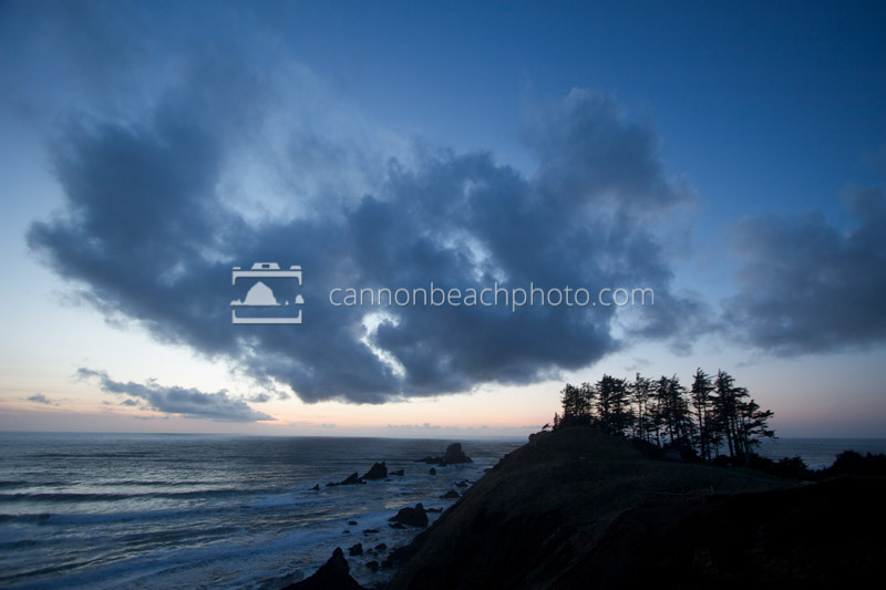 Ecola Point After Sun Down