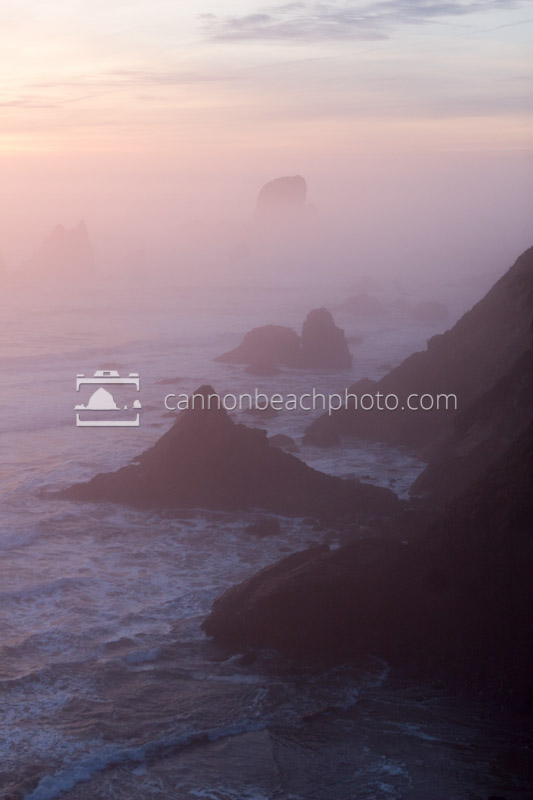 Fog Vertical of Coast