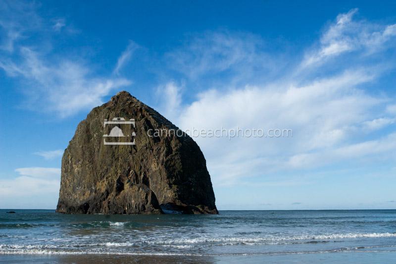 Haystack Rock with Blue Sky