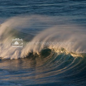 Huge Wave Crash in Morning Light