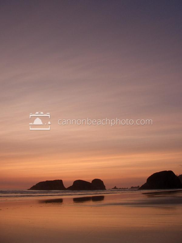 Luminous Sky at Murre Rocks - Vertical