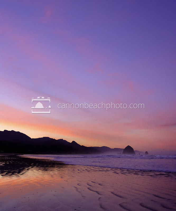 Pastel Sunset over Cannon Beach