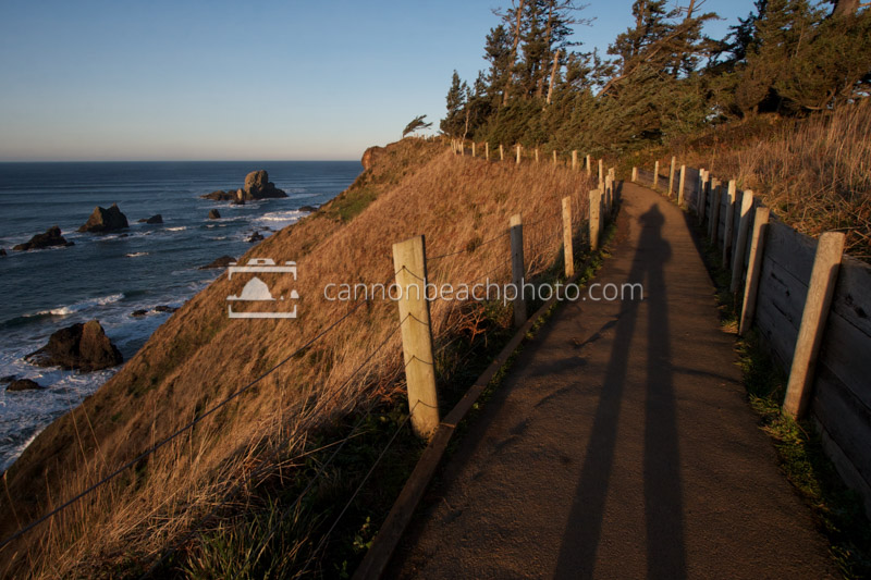 Shadow Stretch at Ecola Point