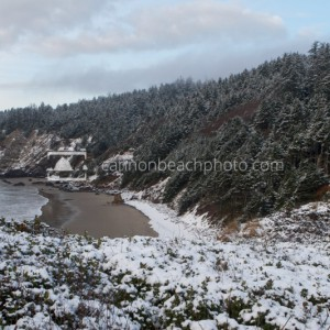 Snow On Crescent Beach