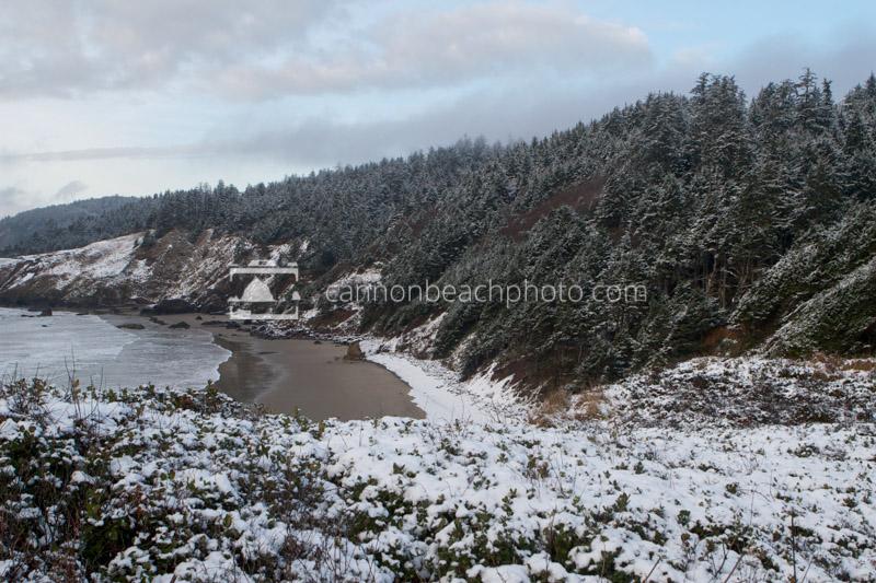 Snow On Crescent Beach