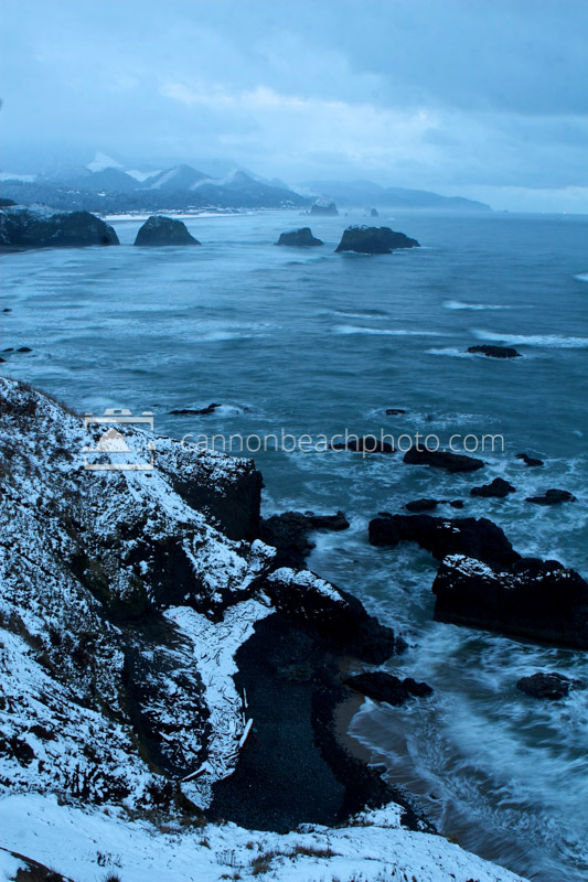 Snowy Ecola State Park