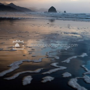 Stormy Evening looking toward Haystack Rock
