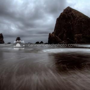 Stormy Haystack Rock HDR