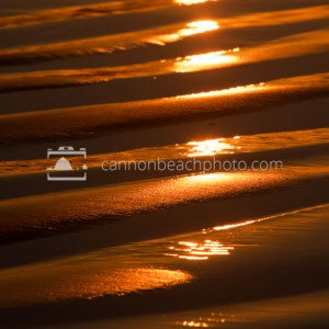 Sun Reflecting on Golden Sand