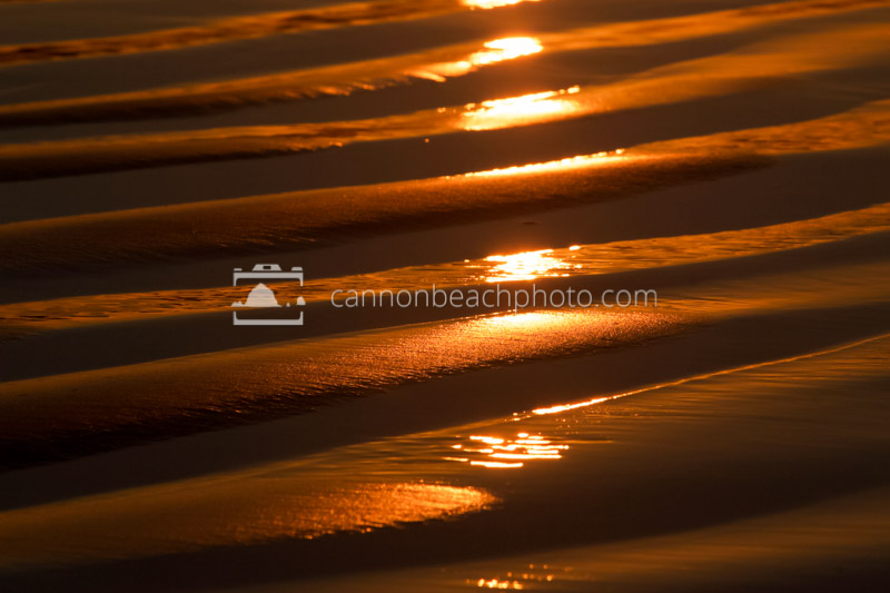 Sun Reflecting on Golden Sand