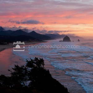 Sunset Over Cannon Beach and the Pacific Ocean