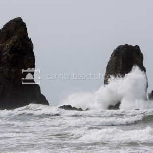 Wave Crash at Needles - Horizontal
