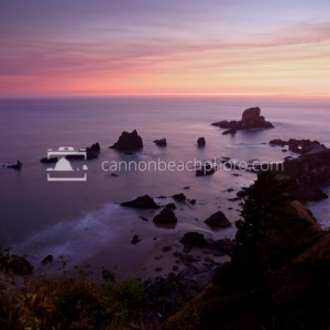 Evening Glow with Sea Lion Rocks