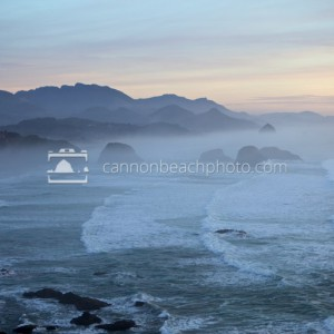 Foggy Evening View from Ecola Point