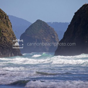 Haystack Rock Thru the Gap