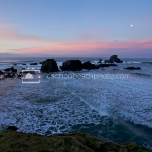 Moon Morning at Ecola State Park