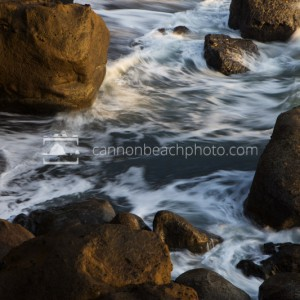 Rocks and Waves, Golden Light