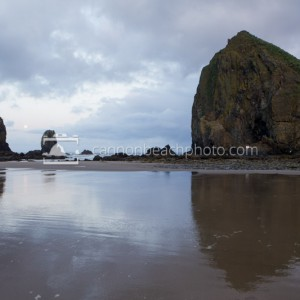 Still Morning at Haystack Rock