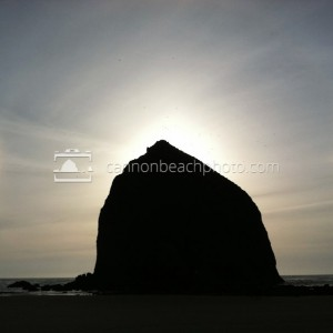 Sun Dogs Around Haystack Rock