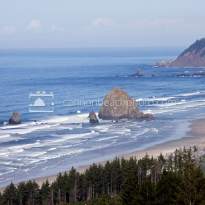 Sunny Cannon Beach from Double Peak