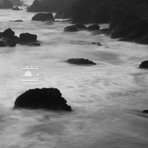 Tide and Rock in Black and White