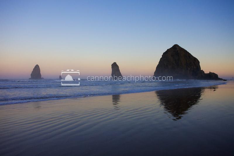 Before Dawn, Haystack Rock Reflecting