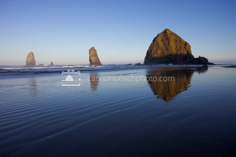 Dawn Light on Haystack Rock