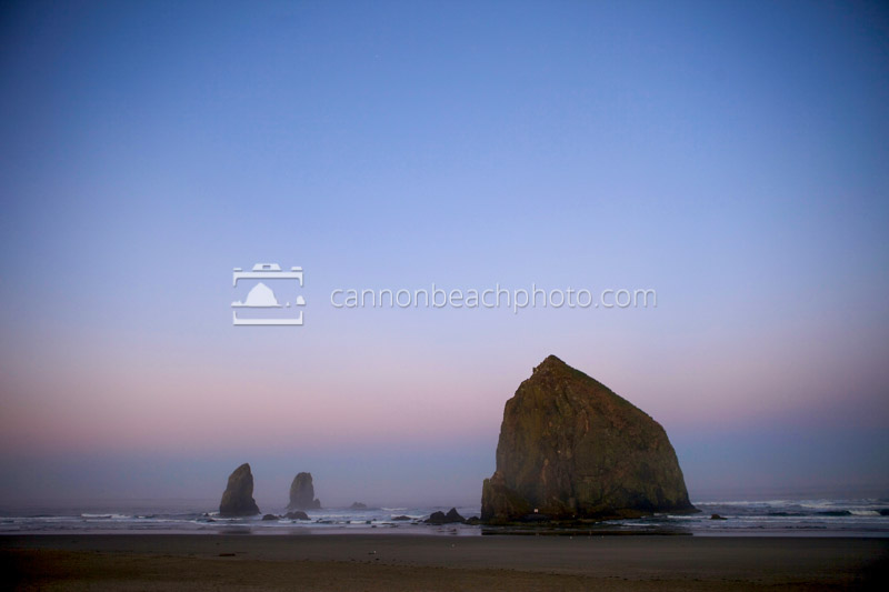 Earth Shadow with Haystack Rock