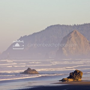Lady Rocks and Haystack Rock, Horizontal