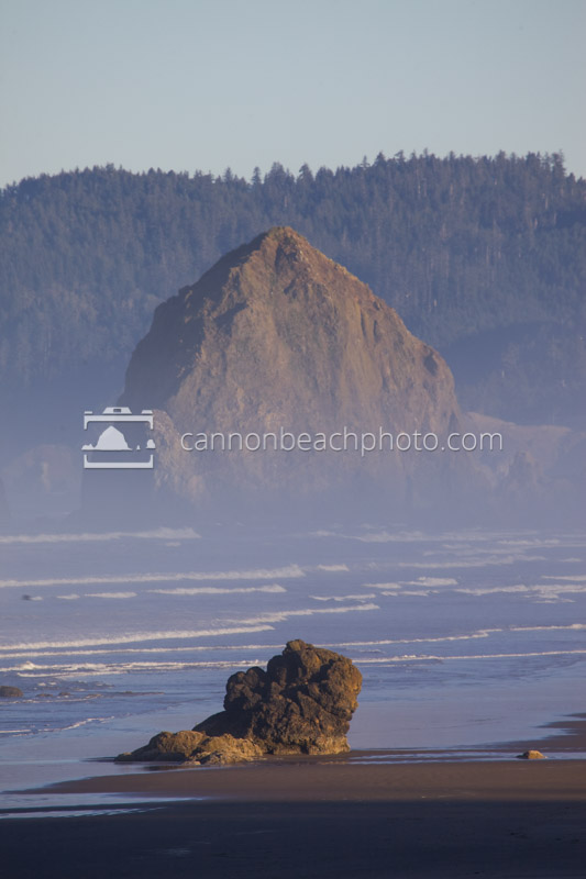 Lady Rocks and Haystack Rock, Vertical