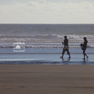 Couple Walking the Shore