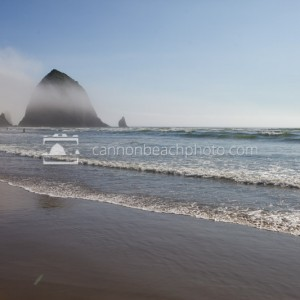 Unusual Cloud Perched on Haystack Rock