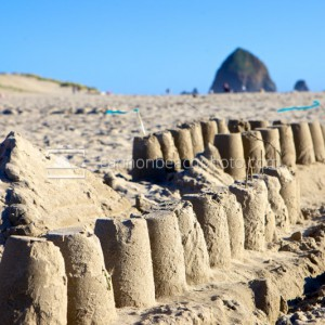 Beach Sandcastle Horizontal Image