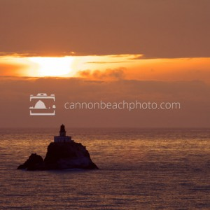 Tillamook Rock Lighthouse at Sunset