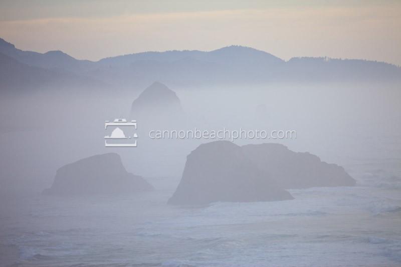 Cannon Beach Thru the Fog, Ecola State Park