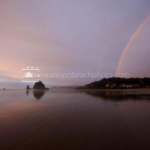 Double Rainbow Over Cannon Beach