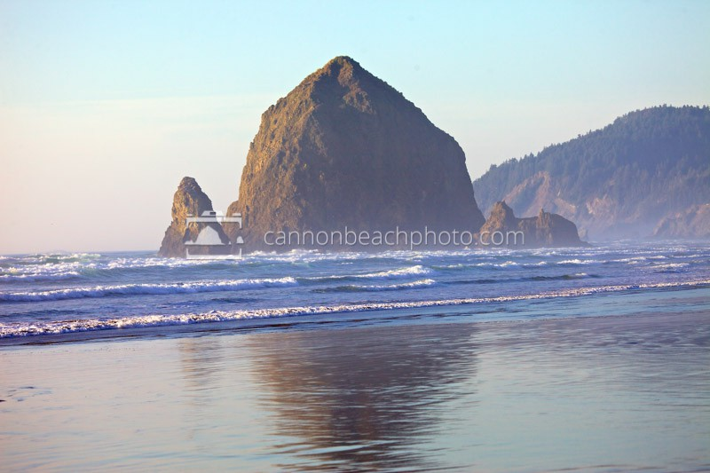Haystack Rock in Golden Light
