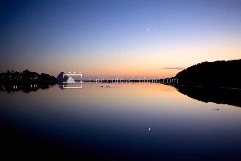 Serene Evening - Ecola Creek Horizontal