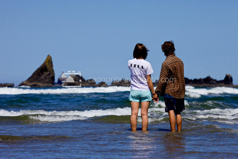 Couple Holding Hands on the Ocean's Edge 2
