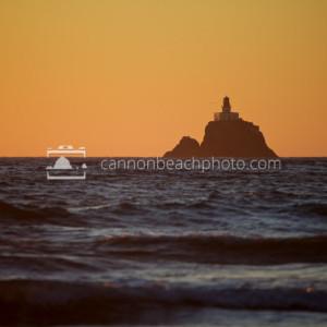 Golden Lighthouse Skies