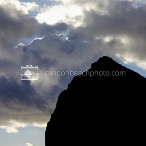 Haystack Rock Top in Silhouette