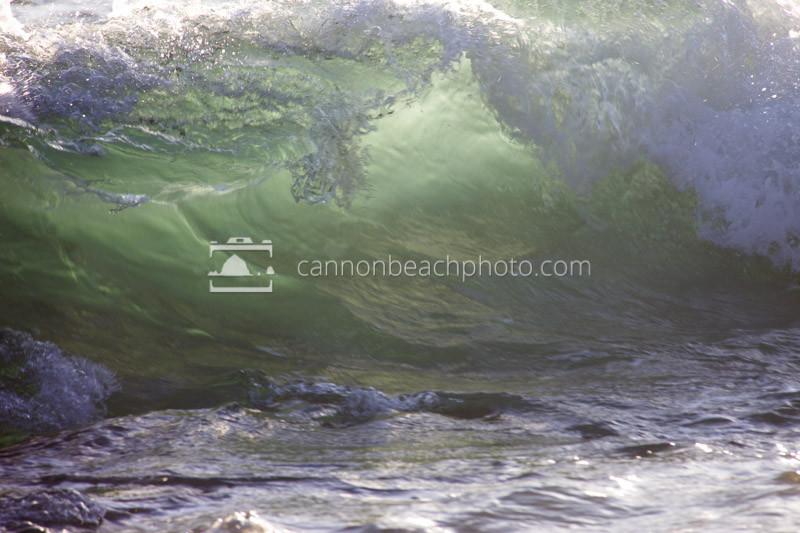 Illuminated Wave Curl, Oregon Coast