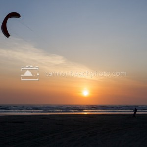 Kite Boarding at Sunset