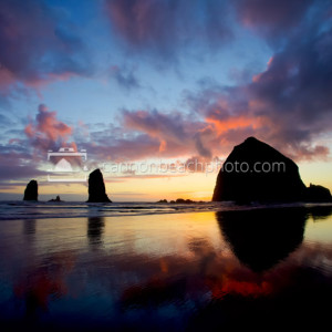 Sunset Images of Cannon Beach, Oregon