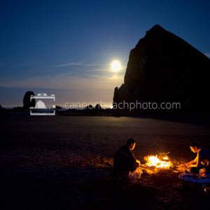 Beach Bonfire with Haystack Rock