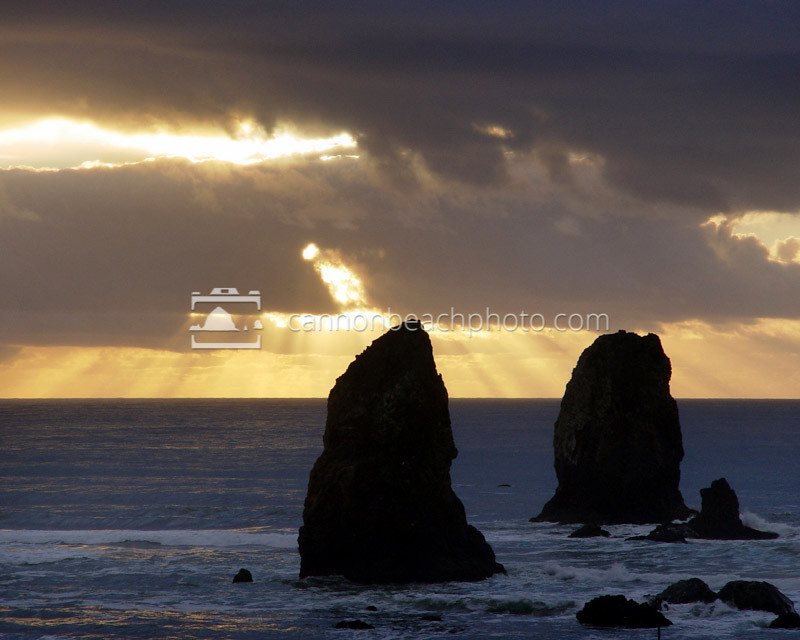 Illumination over the Needles, Cannon Beach, Oregon