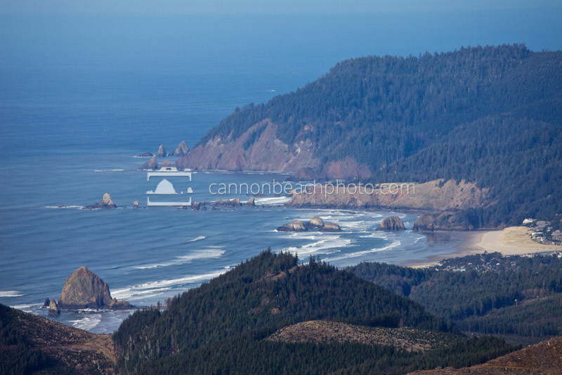 Arial View Overlooking Cannon Beach
