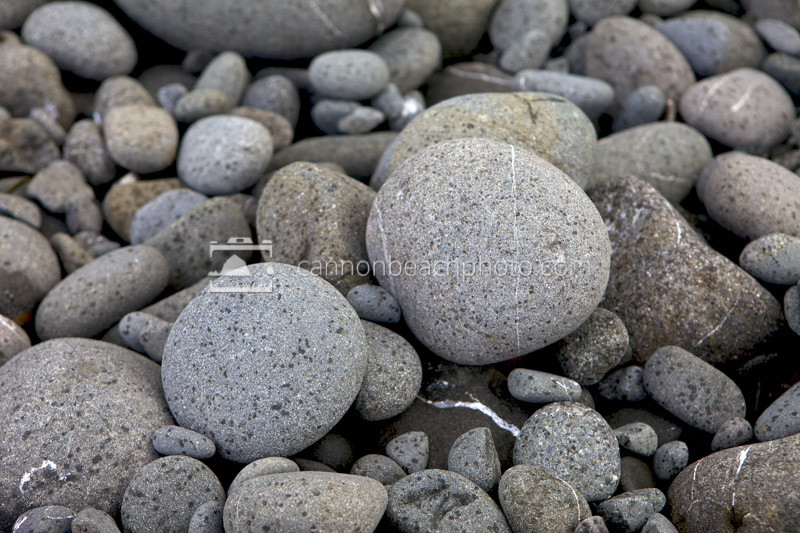 Rain Specks on Beach Stones